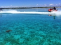 Ridding Waverunners in the crystal clear waters of the Bahamas