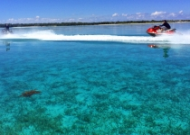 Waverunners in the clear water of the Bahamas